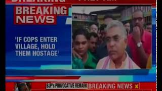 West Bengal BJP Chief's controversial remark; hold policemen hostage, says Dilip Ghosh - NEWSXLIVE