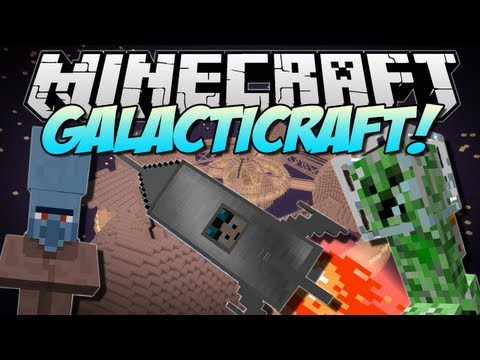 Minecraft GALACTICRAFT The Moon Space Stations More Mod Showcase 1.6.2