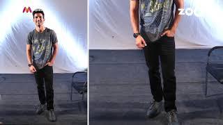 Sushant Singh Rajput with grey T-Shirt & Black jeans | Sushant's OOTD - ZOOMDEKHO