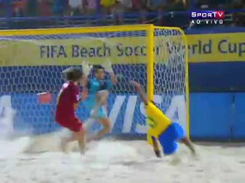 Brasil 8x2 portugal fifa stranden fotball-VM semifinalen dubai 2009