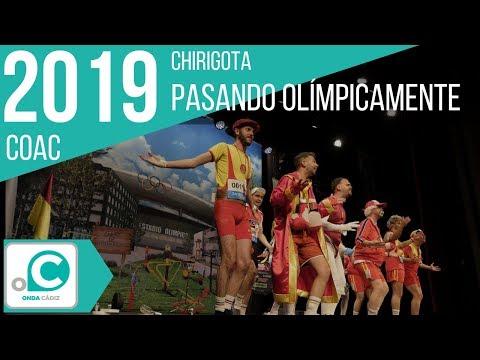 La agrupación Pasando olímpicamente llega al COAC 2019 en la modalidad de Chirigotas. Primera actuación de la agrupación para esta modalidad.