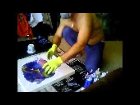 Fluid Acrylic Pouring Techniques