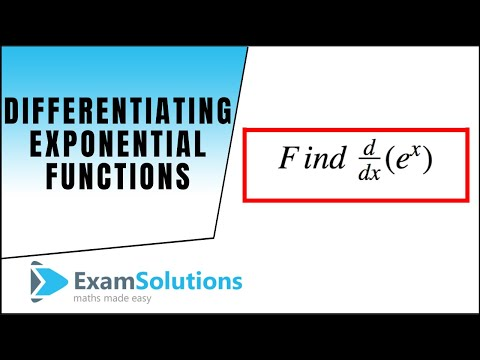Differentiating Exponential Functions using the Chain Rule : ExamSolutions