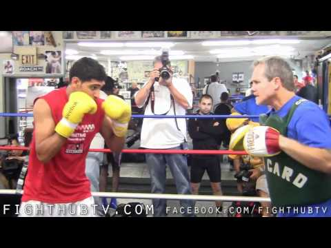 Amir Khan vs. Zab Judah: Amir Khan Media Workout at Wild Card Gym