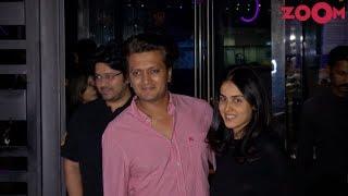 Riteish Deshmukh, Genelia D'Souza, Esha Gupta, Urvashi Sharma & Sachin Joshi Spotted at a Restaurant - ZOOMDEKHO