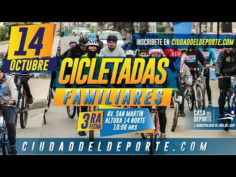 3ª Fecha Cicletadas Familiares Reñaca 2018