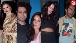 Rekha Loses Her Cool At Event Orgainsers | Katrina Parties With Sister Isabelle & Varun Dhawan - ZOOMDEKHO