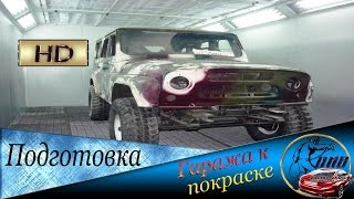 Как покрасить авто в гараже без пыли