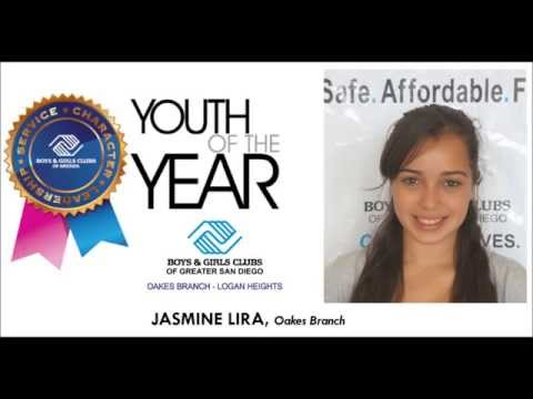 Boys & Girls Clubs of Greater San Diego Youth of the Year Minute Video - Jasmine - www.sdyouth.org
