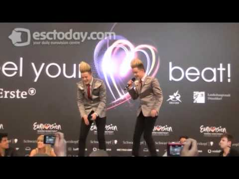 Ireland 2011: Press Conference Fun With Jedward