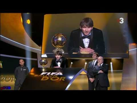 Lionel Messi Baln de Oro Golden Ball 2010 FiFPro World XI Award 10 1 2011