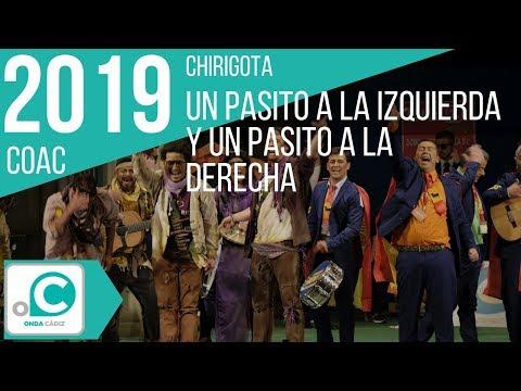 Sesión de Preliminares, la agrupación Un pasito a la izquierda y un pasito a la derecha actúa hoy en la modalidad de Chirigotas.
