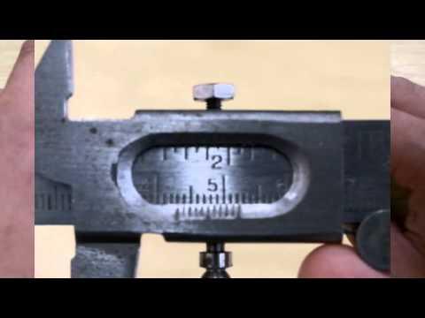 How to use vernier calipers (metric)