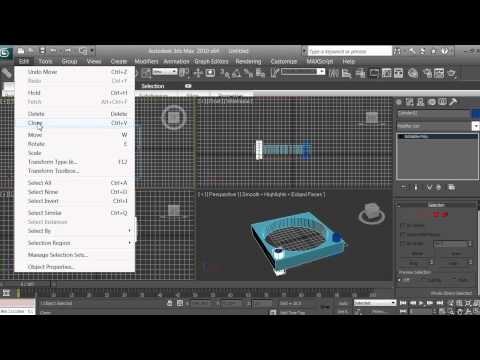 3D Modeling - Computer Fan Tutorial - Beginners - 3ds max - pt 5 of 16