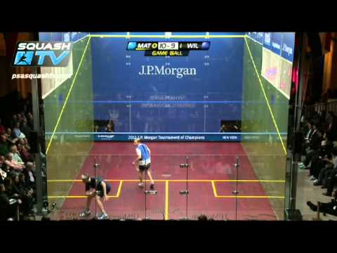 J.P. Morgan Tournament of Champions 2012 - Final Matthew v Willstrop Roundup