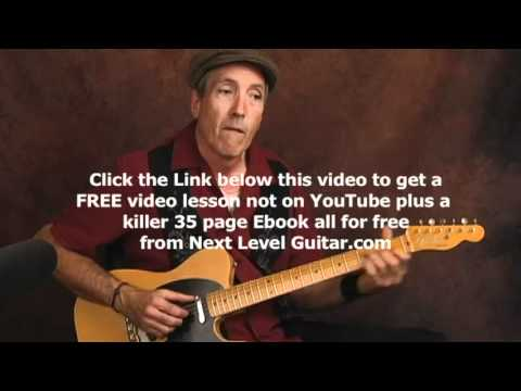 Learn Blues rhythms with tremolo vibrato effect guitar lesson using a Fender Telecaster