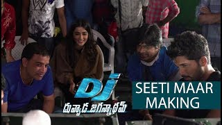 Seeti Maar Song Making - DJ Movie Making | Allu Arjun, Pooja Hegde - DILRAJU