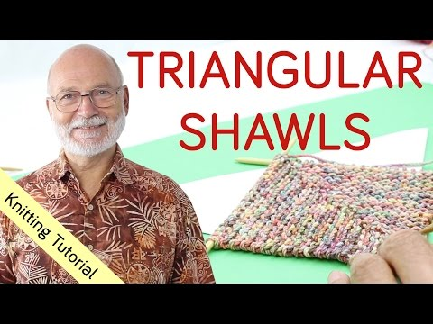 4 Ways to Knit a Triangular Shawl