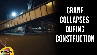 Goregaon Flyover Crane collapses During Construction in Mumbai | Mango News - MANGONEWS
