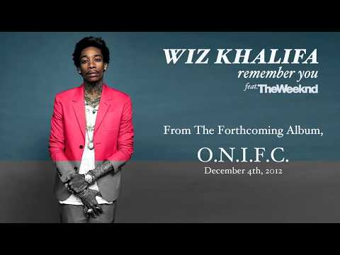 Wiz Khalifa Remember You ft. The Weeknd Audio