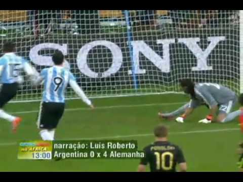 O Chocolate na Argentina 0 x 4 Alemanha - Copa Mundo 2010