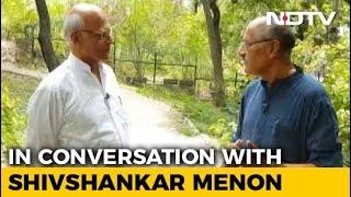 Walk The Talk With Shivshankar Menon - NDTV