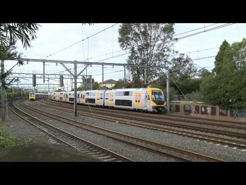 Sydney Cityrail trains at Burwood - Australian passenger trains - part 1