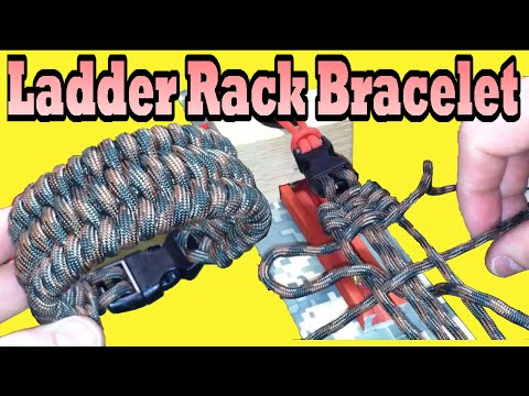 Paracordist's How To Make the Ladder Rack Knot Paracord Bracelet, using the Ultimate Jig