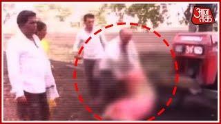 Maharashtra में एक बेटे ने बूढी माँ को फेंका ट्रेक्टर के नीचे - AAJTAKTV