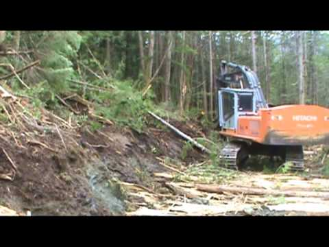 2012 Seymour Inlet, BC coastal logging roadbuilding work