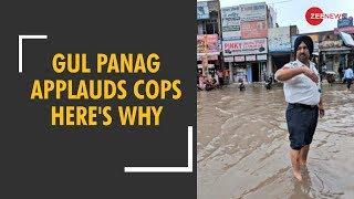Gul Panag tweets photos of traffic policemen working in pouring rain - ZEENEWS