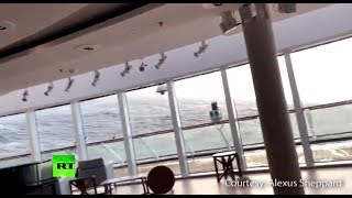 Dramatic: Furniture sliding, water flows inside Viking Sky ship with over 1k on board - RUSSIATODAY