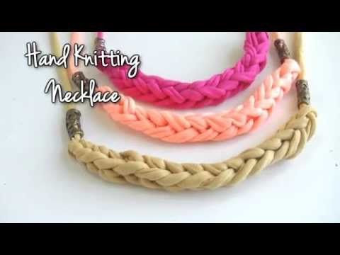 Beading - Necklace with Hand knitting technique