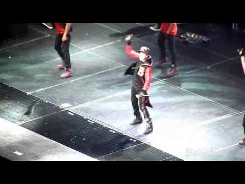 Justin Bieber Dance Off With Jaden Smith & Drums O2 Arena London UK 14 03 11 MWT