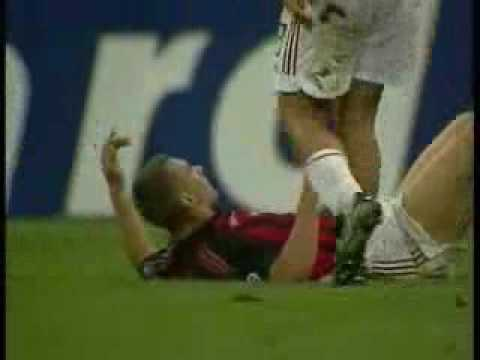 "Materazzi against Milan and Shevchenko. The man is CRAZY!! Music: Linkin Park ""session"" Albbum: Meteora"