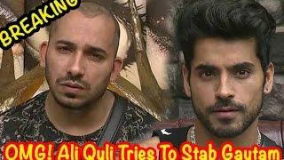 Bigg Boss 8 :  Ali Quli Threatens Gautam Gulati With A Knife - THECINECURRY