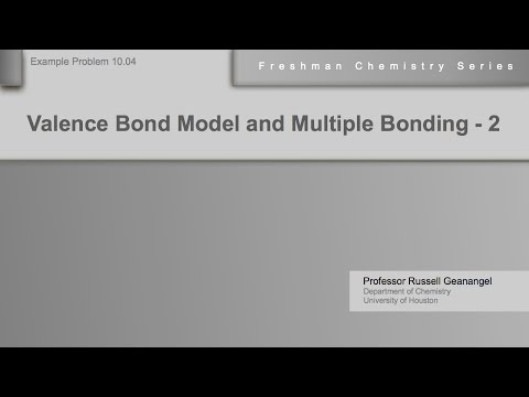 Chemistry Help Workshop 10.04: Valence Bond Model and Multiple Bonding - Example 2