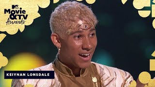 Keiynan Lonsdale Accepts the Award for Best Kiss | 2018 MTV Movie & TV Awards - MTV