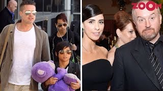 Brad Pitt Schedules His Shoot To Spend Time With Kids | Sarah Silverman Supports Louis CK - ZOOMDEKHO