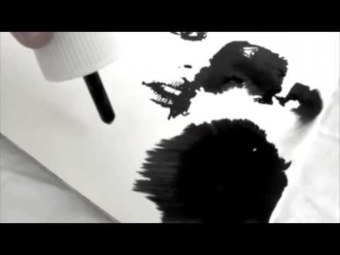 Portrait Ink and Water - Speed Painting