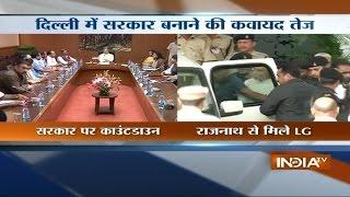 Delhi LG to talk to parties on govt formation, meets Rajnath - INDIATV