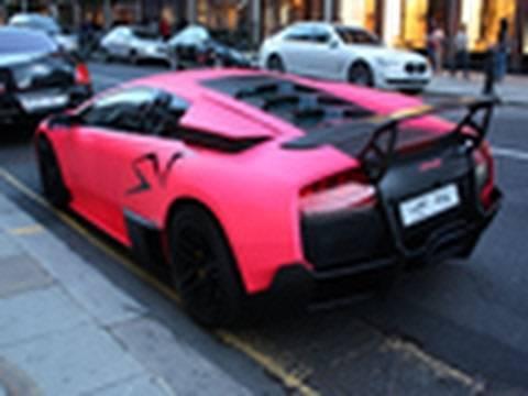 Pink Lamborghini Murcielago LP670-4 SV