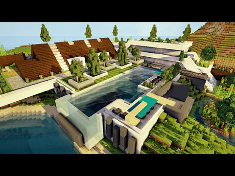 Minecraft Maison moderne conceptuelle 2/2