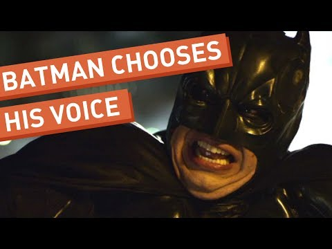 Batman Chooses His Voice -WOg3ZE3hNQc