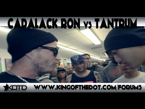 KOTD - Rap Battle - Cadalack Ron vs Tantrum *Co-Hosted By DJ King Tech & Sid Wilson*