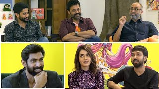 Rana Interviews Venky Mama Movie Team | Venkatesh | Naga Chaitanya | Suresh Babu - TFPC