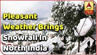 Pleasant weather brings snowfall in North India,while Cyclone Phethai brings trouble in So - ABPNEWSTV