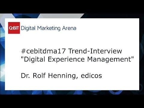 #cebitdmx17 Interview Dr. Rolf Henning, edicos