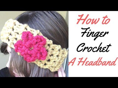 HOW TO MAKE A HEADBAND/ HEAD WARMER FROM FINGER CROCHET FULL TUTORIAL