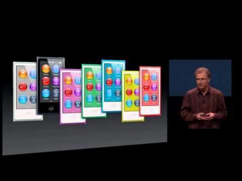 Apple Special Event 2012- iPod Nano 7th Generation Introduction